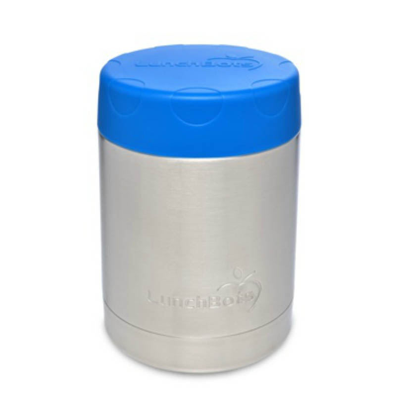 LunchBots Thermal Stainless Steel Insulated Food Jar-350ml-Blue