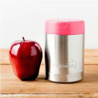 LunchBots Thermal Stainless Steel Insulated Food Jar - 350ml/12oz- Pink