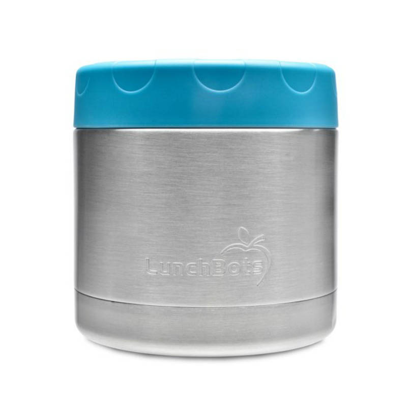 LunchBots Thermal Stainless Steel Insulated Food Jar - 470ml/16oz Aqua