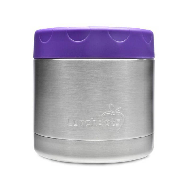 LunchBots Thermal Stainless Steel Insulated Food Jar - 470ml/16oz Purple