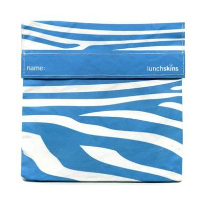 Lunchskins Reusable Sandwich Bag - Aqua Zebra