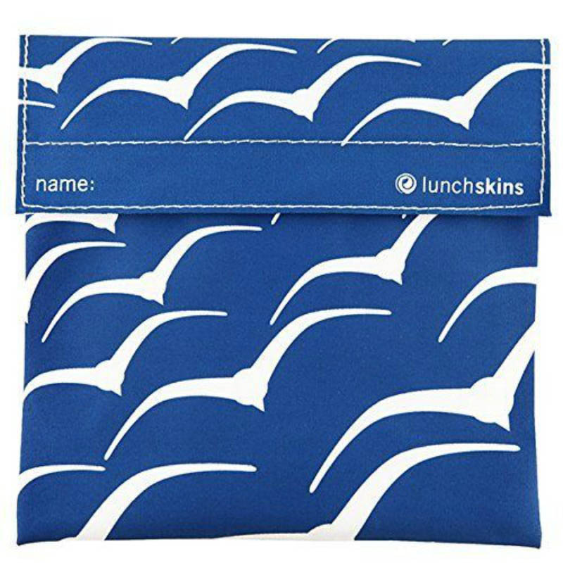 Lunchskins Reusable Sandwich Bag - Blue Seabird