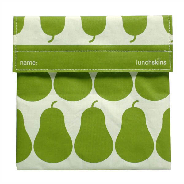 Lunchskins Reusable Sandwich Bag- Green Pears