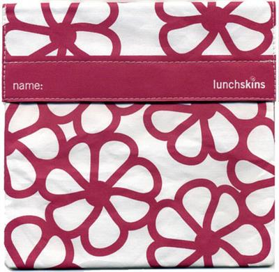 Lunchskins Reusable Sandwich Bag- Berry Blossom