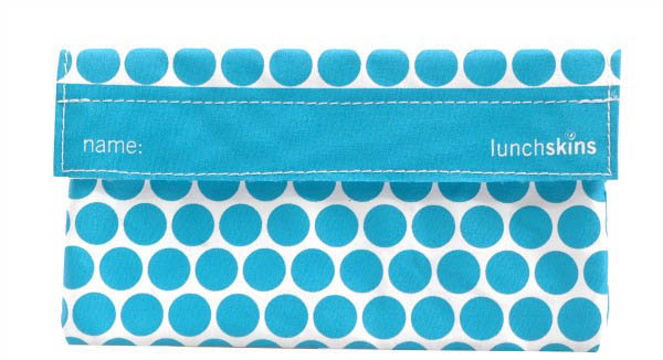LunchSkins Reusable Snack Bag- Aqua Dot
