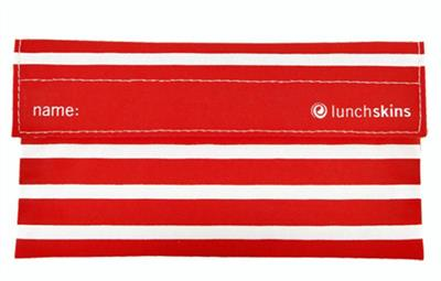 LunchSkins Reusable Snack Bag- Red Stripe