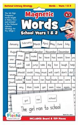 Magnetic Words and Board Grade 1 and 2