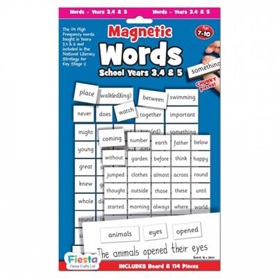 Magnetic Words and Board Grades 3,4 and 5