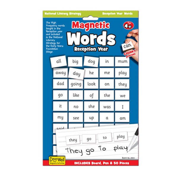 Doowell- Kids Learning Toys- Magnetic Words and Board {Reception Year}