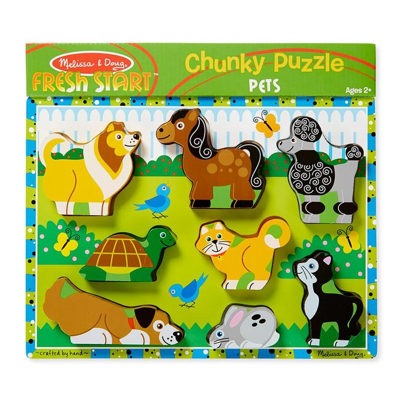 Melissa And Doug Pets Chunky Puzzle
