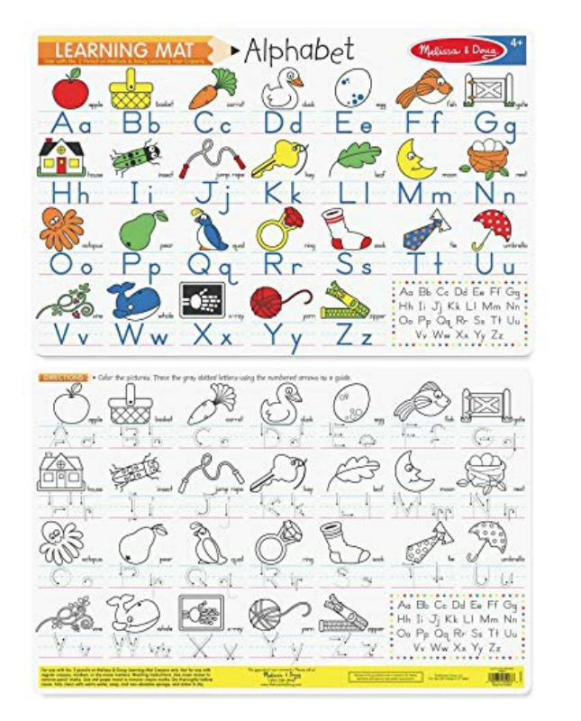 Melissa & Doug Double-Sided Alphabet Write-A-Mat