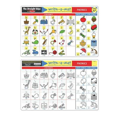 Melissa & Doug Double-Sided Phonics Write-A-Mat
