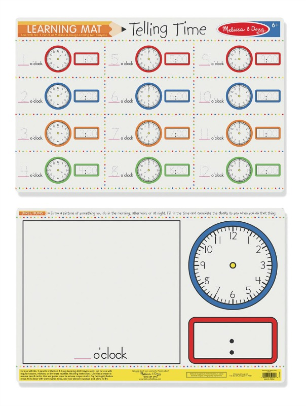 Melissa & Doug Double-Sided Telling Write-A-Mat