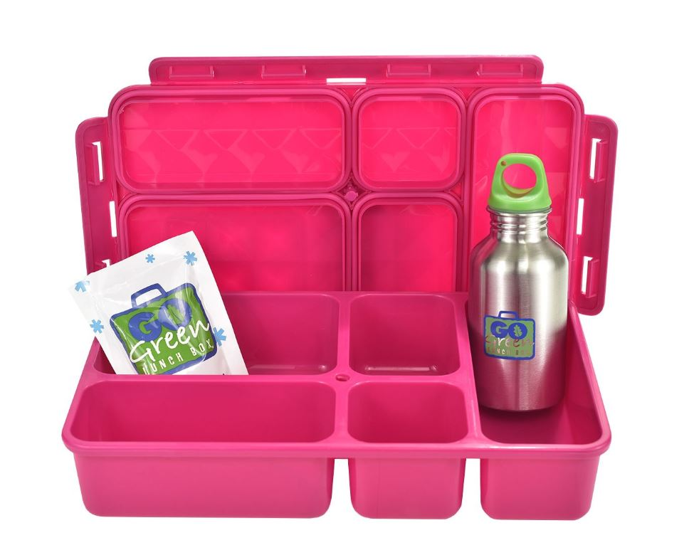 Pink Go Green Lunch Box