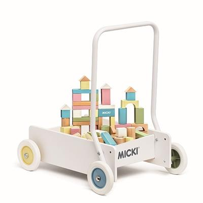 Micki Baby Walker with 50 Blocks - Pastel