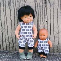 Mini Romper Dude (left doll)