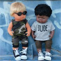 Mini Romper Camo (doll on left)