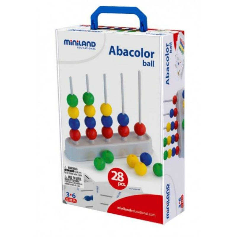 Miniland Abacolor Balls - Abacus Activity Set.