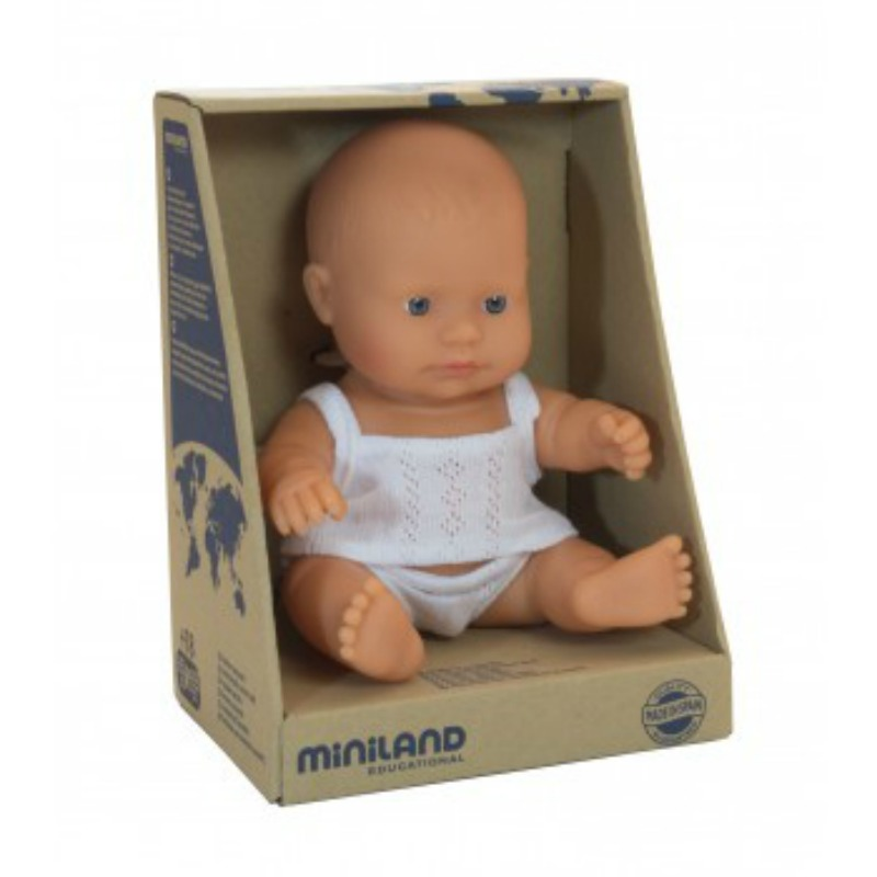 Miniland European Baby Boy Doll 21cm