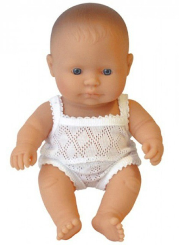Miniland European Baby Girl Doll 21cm