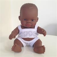 Miniland African Baby Girl Doll 21cm