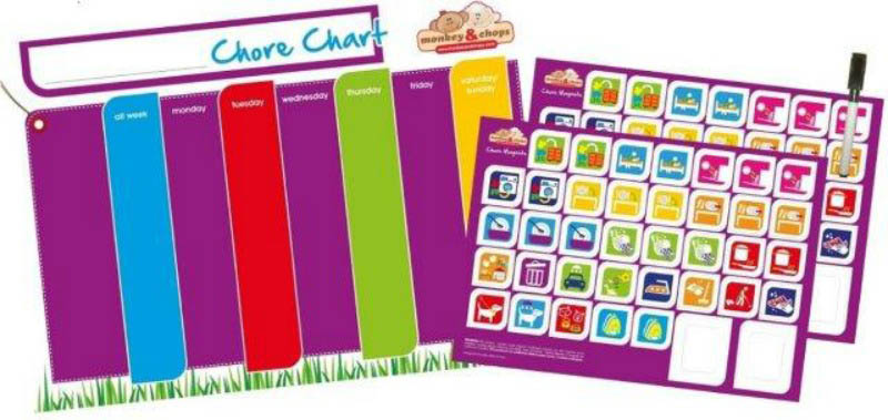 monkey & chops - Magnetic Chore Chart