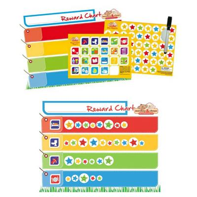 Monkey & Chops Fully Magnetised Reward Chart