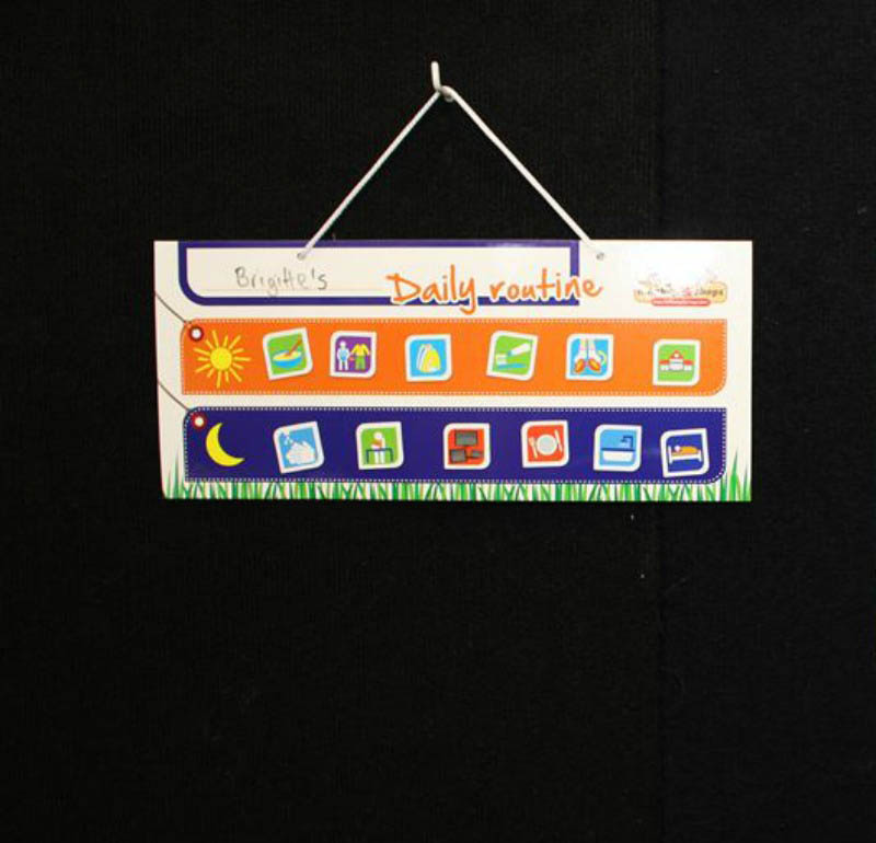 monkey & chops - Hanging Magnetic Daily Routine Chart