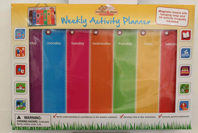 monkey & chopsHanging Magnetic Board Weekly Activity Planner