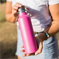 MontiiCo Drink Bottle - Bright Pink Glitter