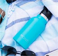 MontiiCo Mini Driink Bottle - Aqua Glitter