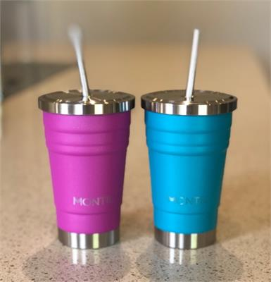 MontiiCo Insulated Glitter Mini Smoothie Cup - 275ml