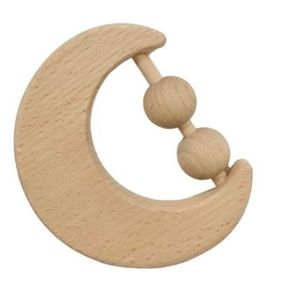 Moon Wooden Baby Rattle