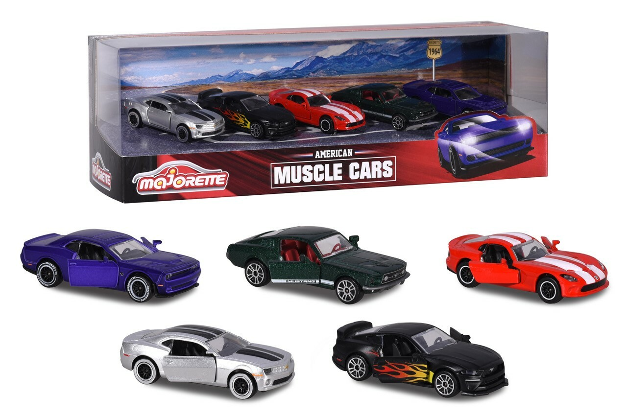 Muscle Cars 5 pce Gift pack |  Die Cast Toy Cars
