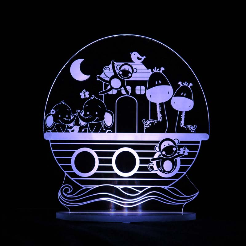 My Dream Light LED Night Light Noahs Ark PLUG IN