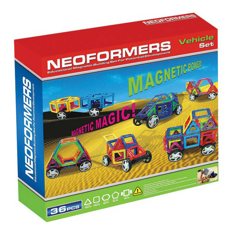 Neoformer Magnetic Building Vehicle 36pcs Set