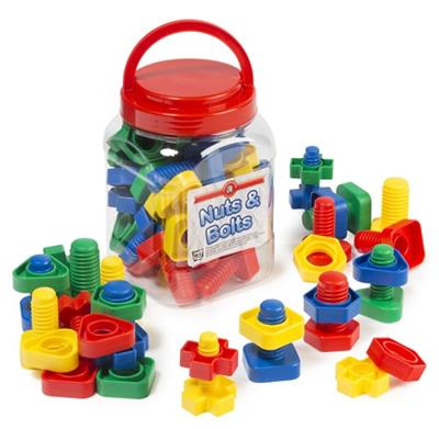 Nuts & Bolts Jar of 32