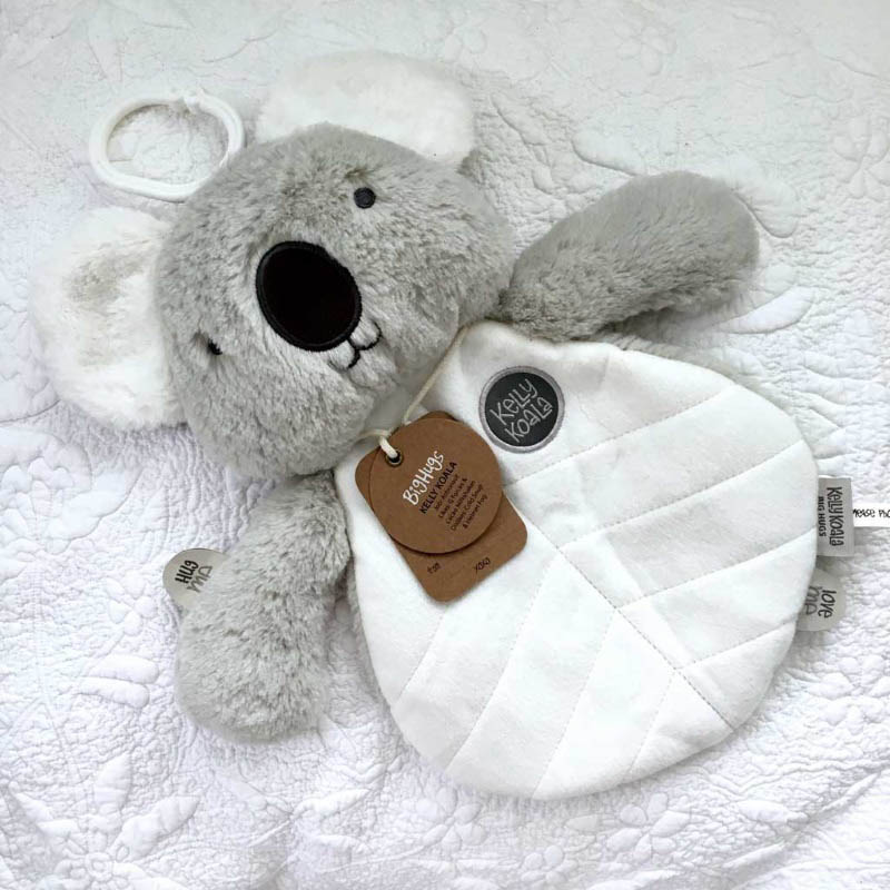 O.B Designs Comforter - Kelly Koala (Grey)