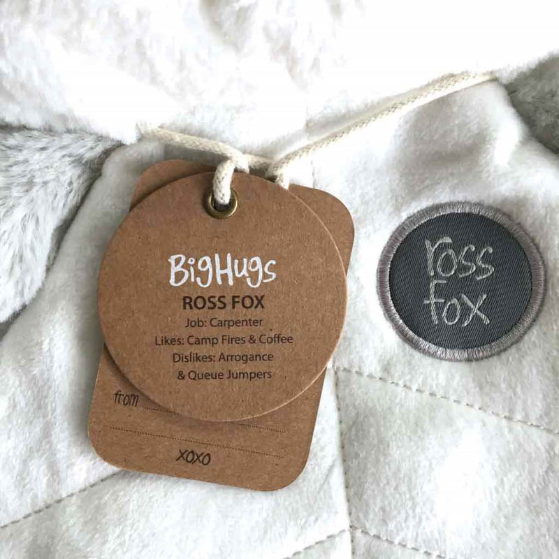 O.B Designs Comforter - Ross Fox (Silver)