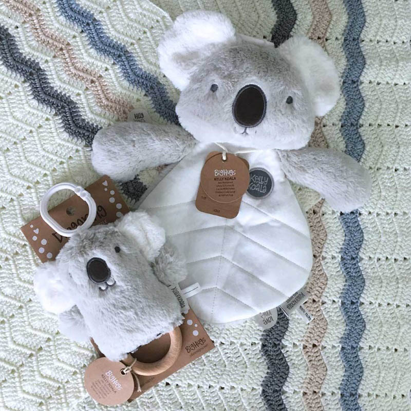 O.B Designs Dingaring and Comforter - Kelly Koala (Grey)