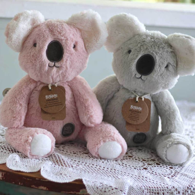 O.B Designs Huggie - Kelly Koala (Grey) and Kate Koala (Pink)
