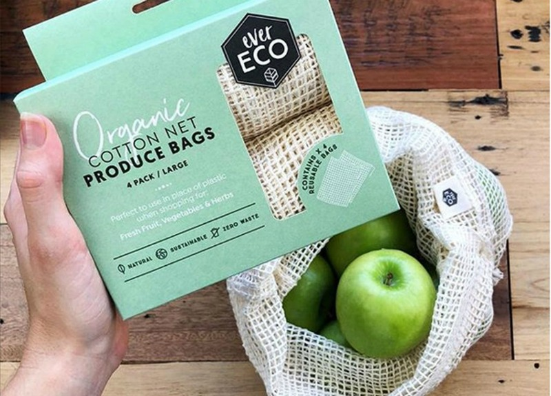 Organic Cotton Net Produce Bags set of 4