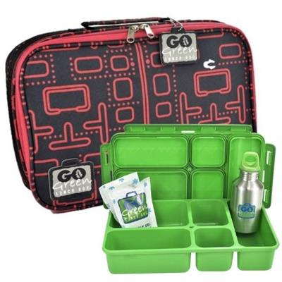 Pacman Go Green Lunch Box Set
