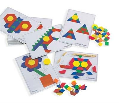 Pattern Block Picture Cards 20pcs