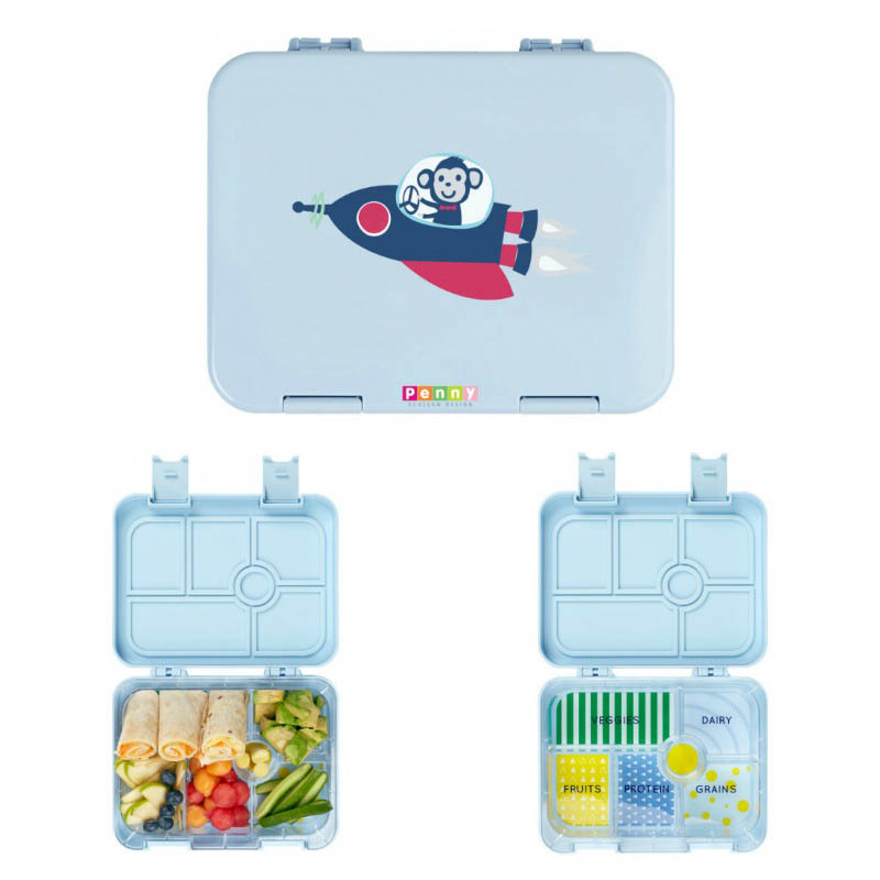 Penny Scallan Bento Box Space Monkey | Kids Bento Lunch Box