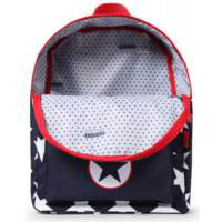 Penny Scallan Canvas Rucksack Backpack - Navy Star