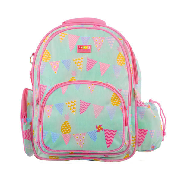 Penny Scallan- Kids Backpack- Large Backpack {Pineapple Bunting}