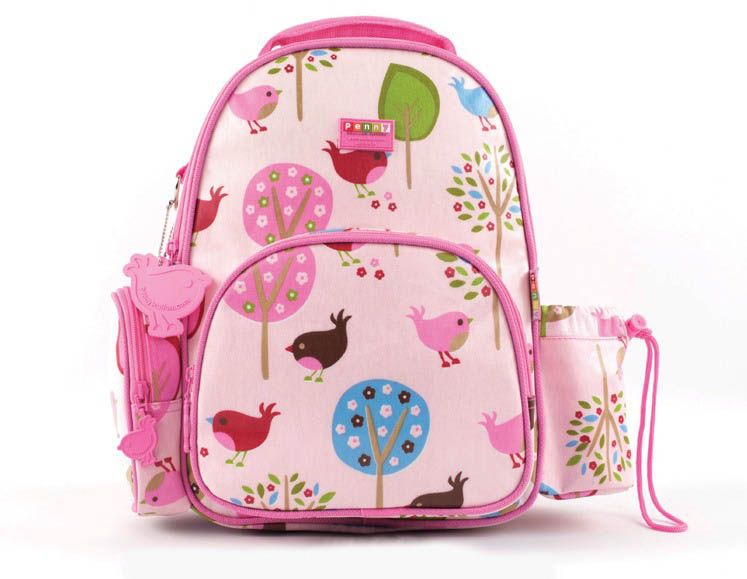 Penny Scallan-Kids Backpack-Medium Backpack {Chirpy Bird}