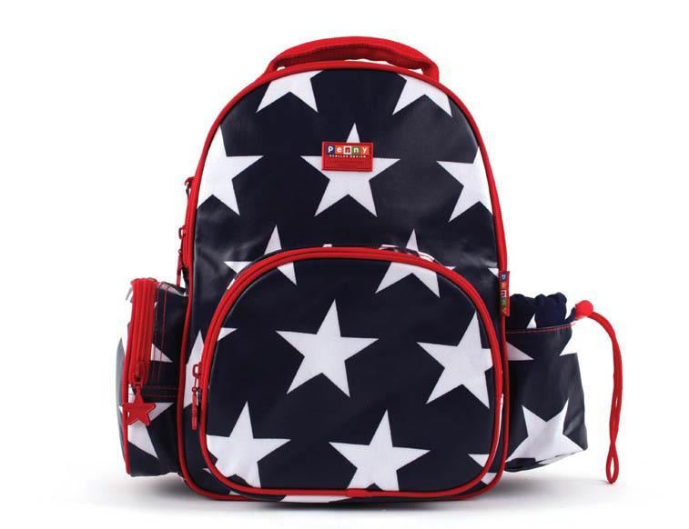Penny Scallan-Kids Backpack-Medium Backpack {Navy Star}