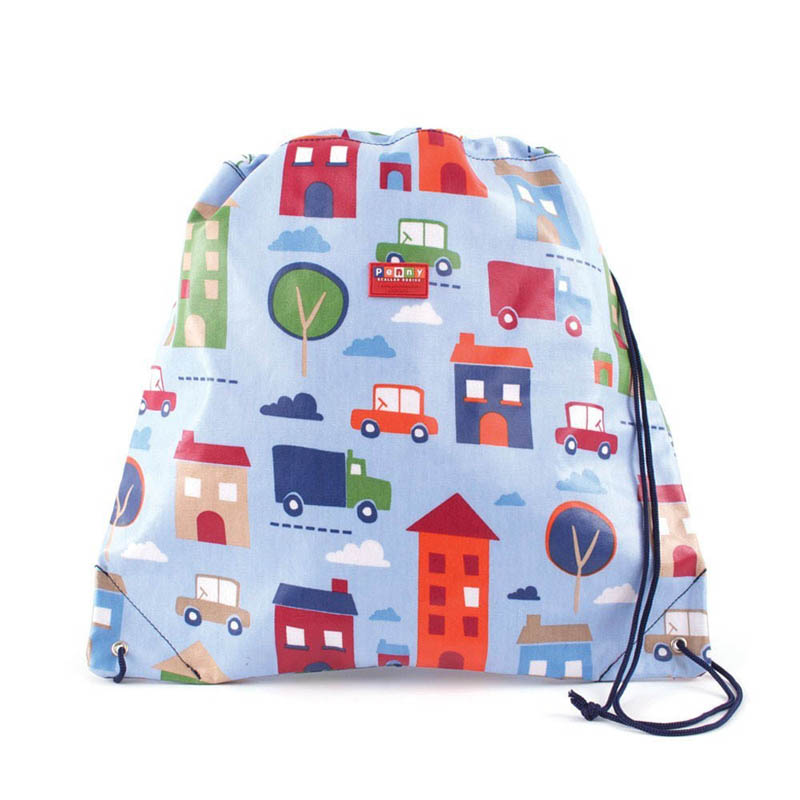 Penny Scallan-Library/Swimming Bags-Drawstring Bag {Big City}